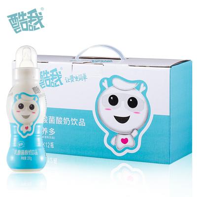 酷我 原味乳酸菌饮品含乳饮品儿童成长奶嘴型饮品200g*12瓶装整箱