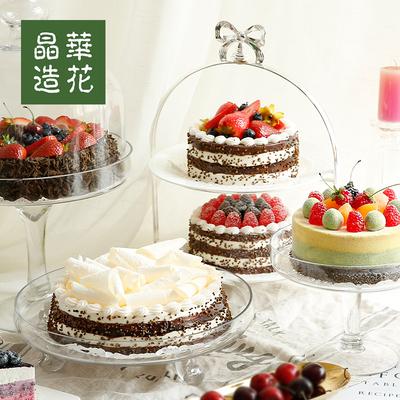 台湾晶华造花仿真蛋糕模型新款儿童生日蛋糕样品欧式假蛋糕道具