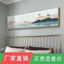 輕奢玄關裝飾畫豎版走廊過道掛畫現代簡約抽象畫新中式客廳壁畫墻