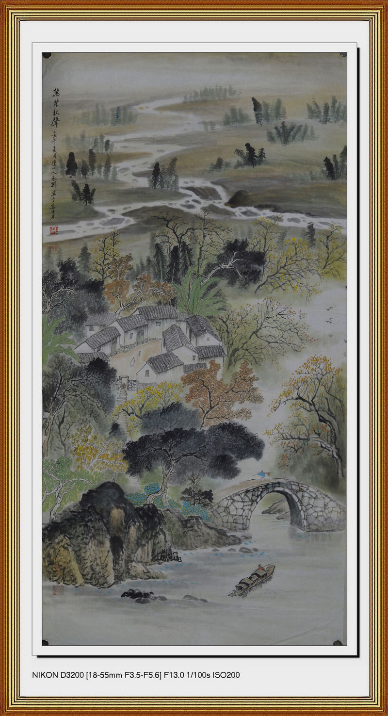 Hot selling traditional Chinese painting living room a fengzhai pure hand-painted exquisite landscape painting