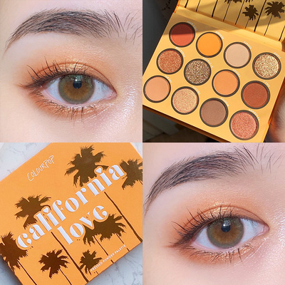 卡拉泡泡colourpop眼影盘california love 加州挚爱colorpop椰子