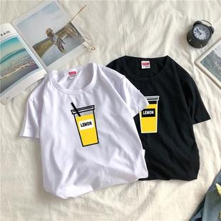 男士潮流短袖夏季日系潮牌纯棉t恤