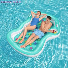 原装正品Bestway双人浮排充气浮床浮船水床沙滩垫水上气垫