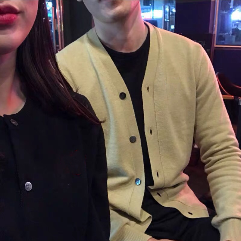 Spring 2020 new spring and autumn couple womens large girls coat mens sweater net red cashmere knitted cardigan