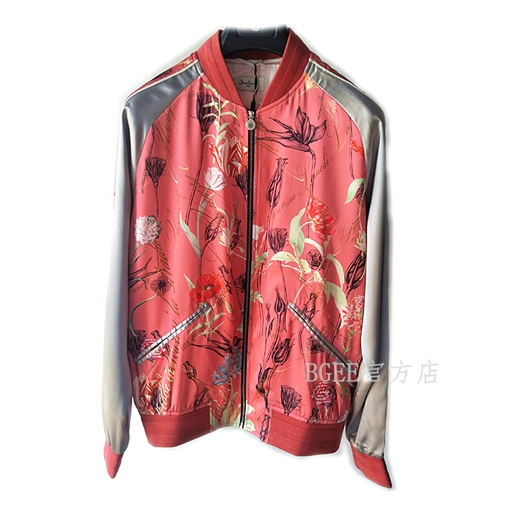 Bgn17mens new spring and summer Satin jacket