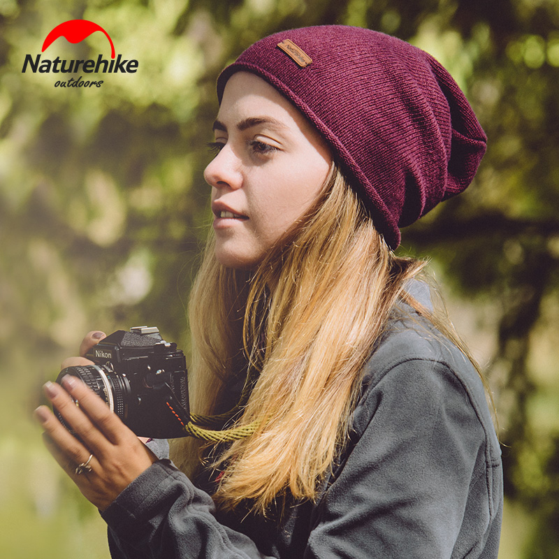 NH outdoor hat warm wool Bini knitted hat men and women autumn and winter running leisure sports hat Ski Hat