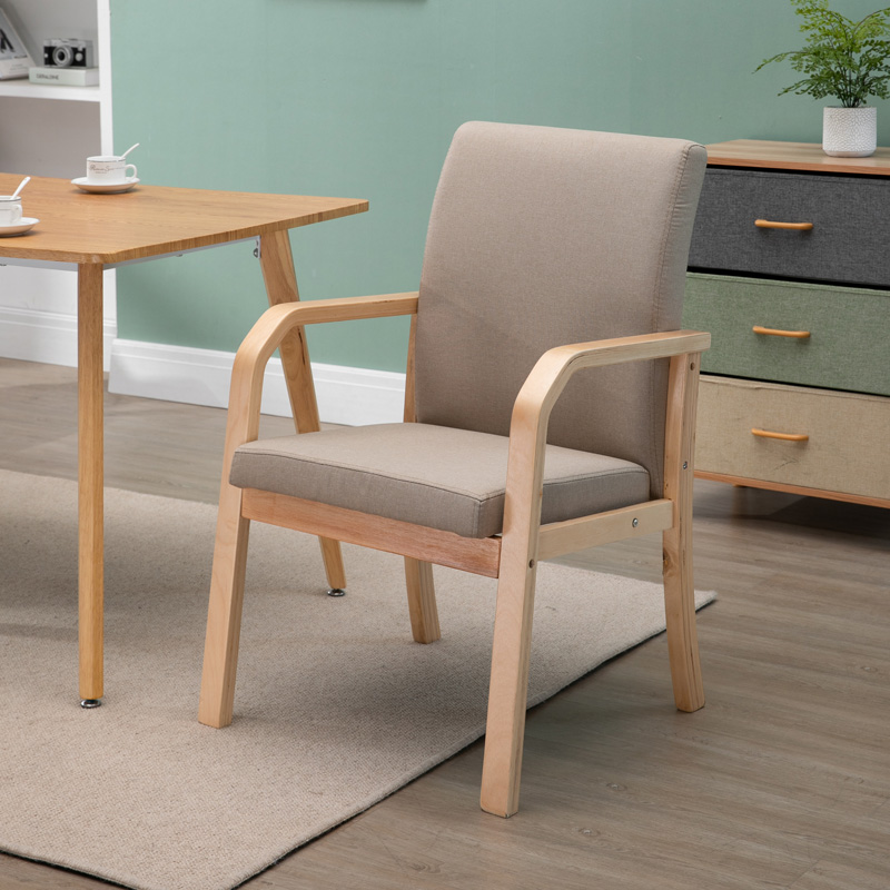 Nordic chair modern simple back home table mahjong solid wood desk bedroom dormitory net red hotel dining chair