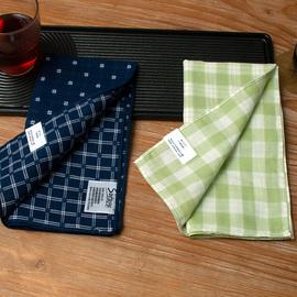 【酷帕】新款双层双面两层手帕热风方巾手帕男士纯棉吸汗手绢