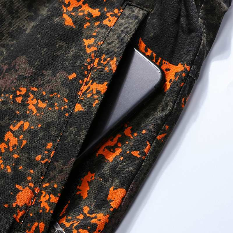 Haomai special step official website summer camouflage shorts mens Pants Plus fat size loose leg pants thin fat