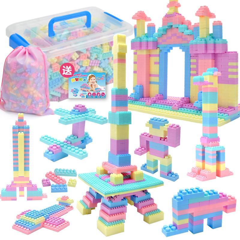 儿童启蒙积木玩具幼儿园益智拼装拼插塑料小孩男孩8女孩3礼物6岁
