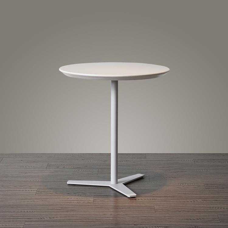 现代简约客厅沙发边几白色圆形欧式角几阳台样板房移动咖啡桌茶几