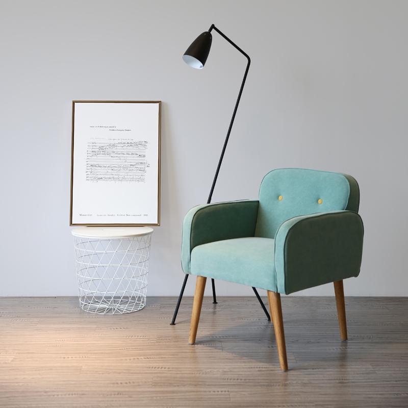 限50000张券创意时尚单人布艺小户型客厅沙发椅
