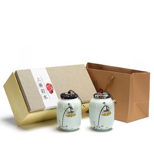 手绘茶叶罐包装盒礼盒装空礼盒空盒定制绿茶信阳毛尖龙井碧螺春