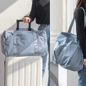 插杆式行李包拉杆箱配套旅行包 便携运动袋子健身便携运动鼓包旅