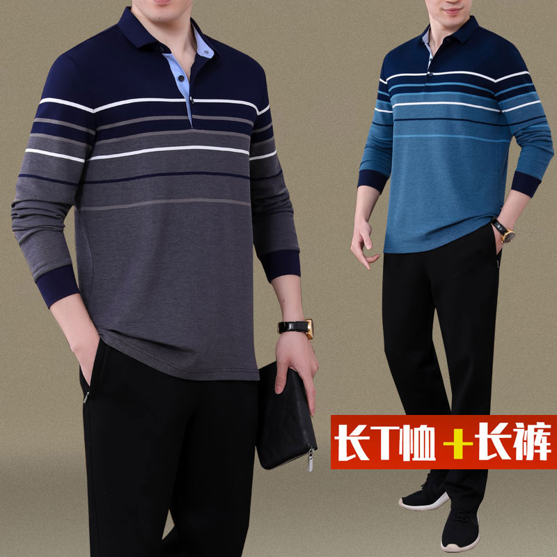 Official website Yian snow walking middle aged father autumn suit long sleeve T-shirt middle aged and old mens spring and autumn coat width