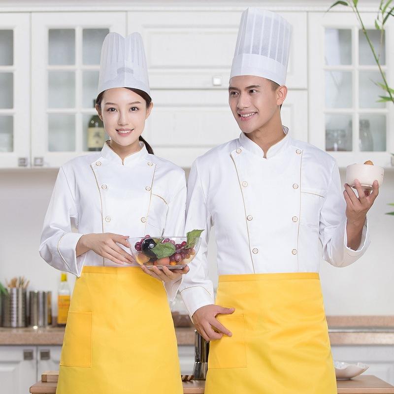订制LOGO酒店厨师工作服秋冬面点馒头长袖制服美食城火锅店厨房服