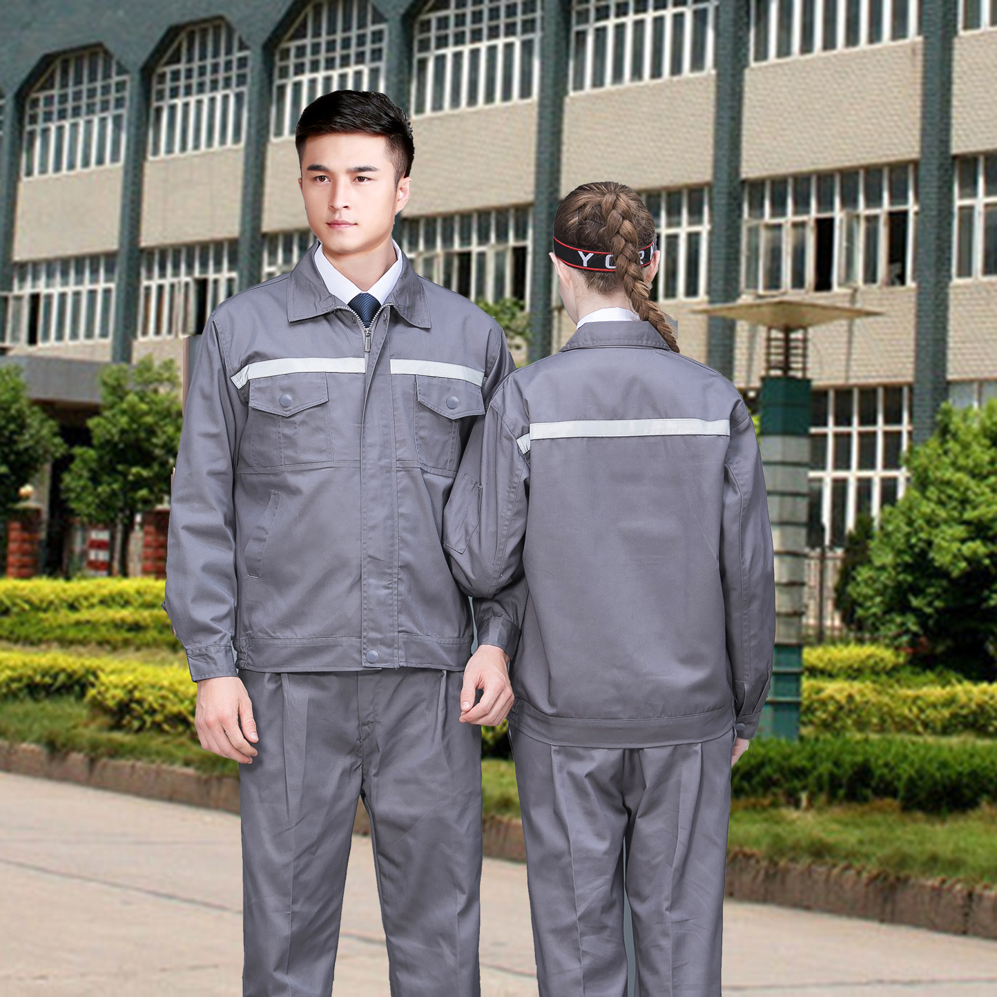 Factory workshop uniform long sleeve autumn clothes property power station electricians clothes elevator maintainers work clothes road and Bridge supervision clothes