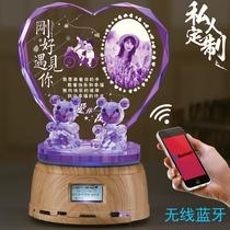 蒲公英水晶球发光音乐盒天空之城旋转八音盒千与千寻生日女生礼物