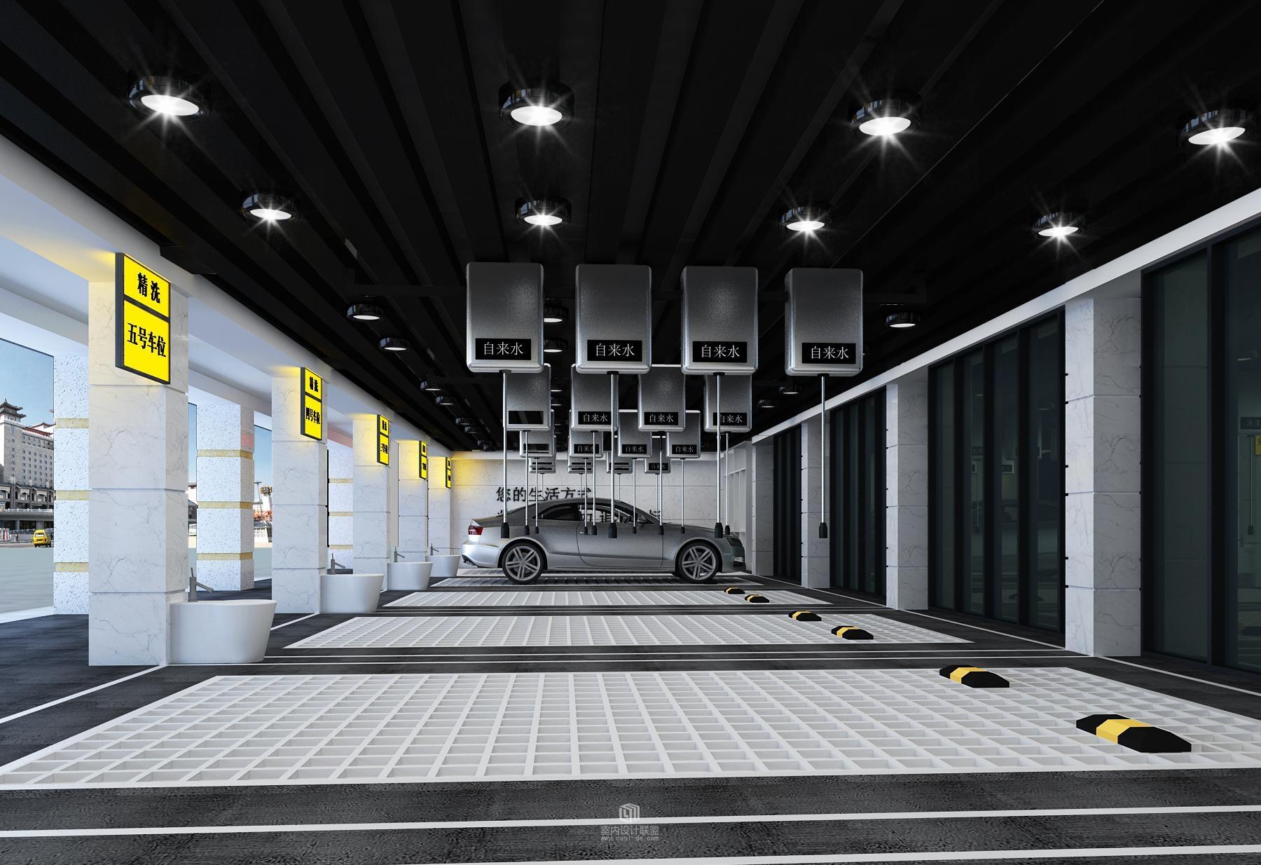 汽车美容店、维修店、4S店、服务店装修 施工图、效果图店铺设计