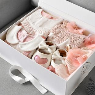 新生婴儿衣服女宝宝春夏装 满月百日周岁婴儿礼盒 洋气套装 新款 薄款