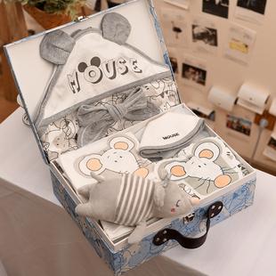 礼盒春夏男女宝宝用品送礼满月 鼠年初生婴儿礼盒新生儿衣服套装