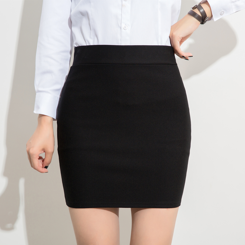 Hip Wrap Skirt womens skirt wrap skirt summer professional dress high waist sexy work skirt elastic black one step skirt group