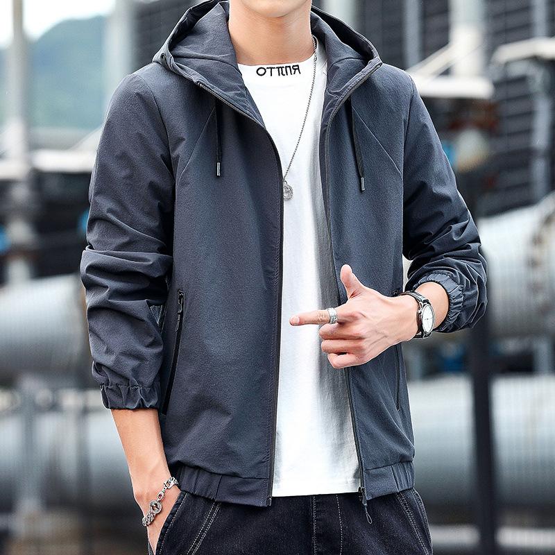 Mens jacket 2021 spring new Korean fashion mens sports jacket casual coat mens student