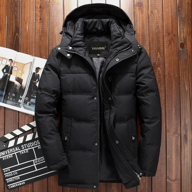 Clearance down jacket mens middle-aged short thickened coat 40-60 years old father business winter wear