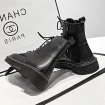 2020年新款马丁靴女潮ins酷夏季薄款黑色女春秋单靴英伦风短靴子