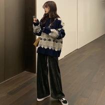 高腰短裙针织开衫初秋套装女时尚2019温暖日记秋ANNAASM