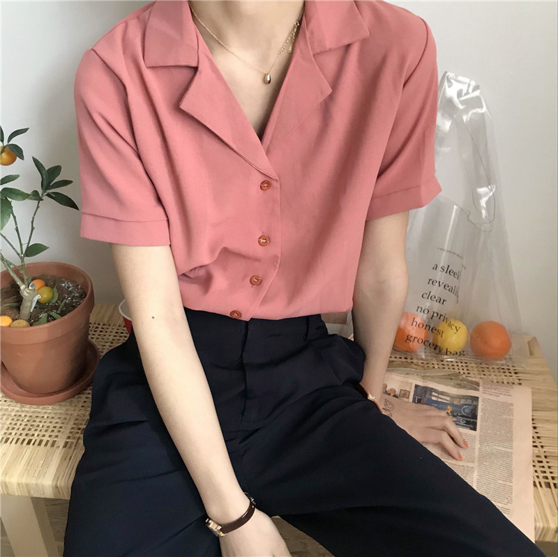 Women's Clothing Fine Sweet Short Blouse Women Korean Chic Lotus Leaf Edge V-neck Shirt New Lantern Sleeve Spring Shirts Girls Holiday Crop Top White