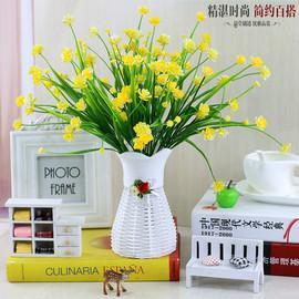 假花盆栽客廳擺設餐桌花娟花冰箱上的茶幾擺件塑膠花裝飾仿真花束圖片