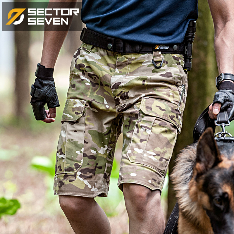 Zone 7 ix5 Hunter tactical camouflage shorts summer mens outdoor military training pants casual loose overalls
