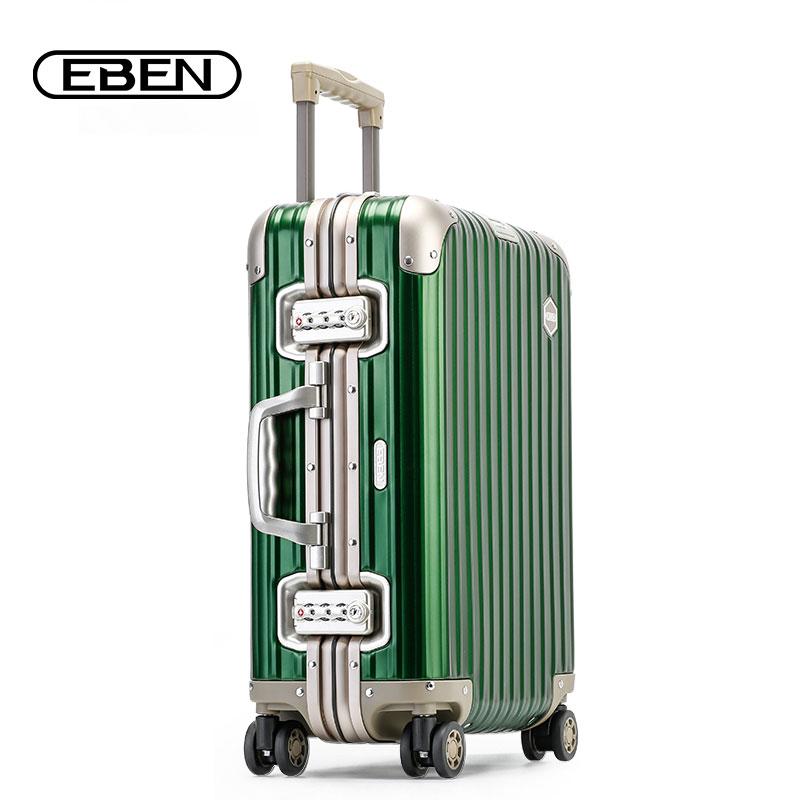 EBEN铝镁合金密码箱登机旅行箱行李箱小型20寸女拉杆箱万向轮男