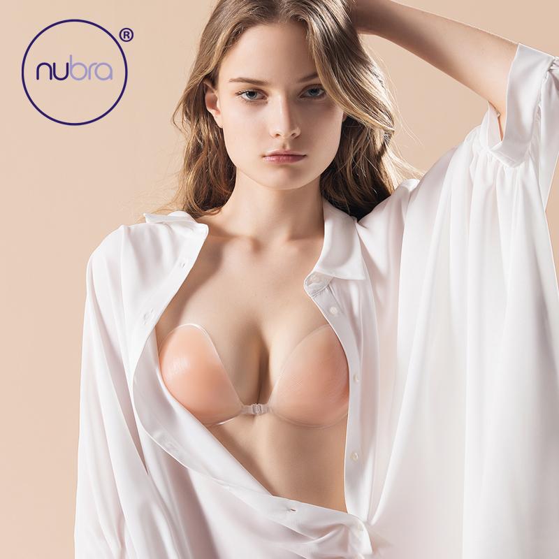 美国NuBra大胸3D硅胶钢圈聚拢内衣隐形收副乳防下垂上托胸贴