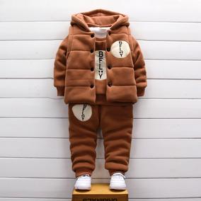 宝宝加绒三件套装婴儿童装加厚卫衣