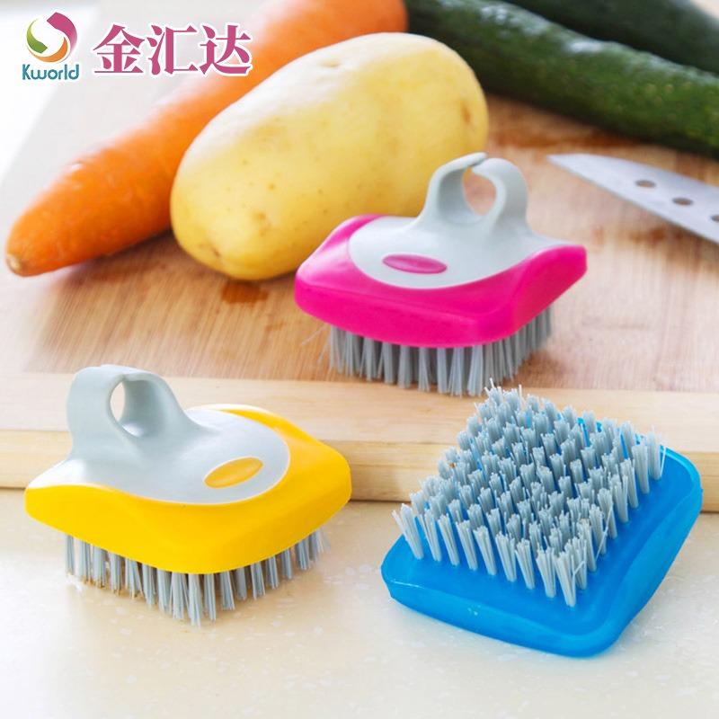 金匯達の青果の野菜は台所をきれいにして使って家庭用品の多機能の果物をこすりますでツールの小さいブラシを洗います