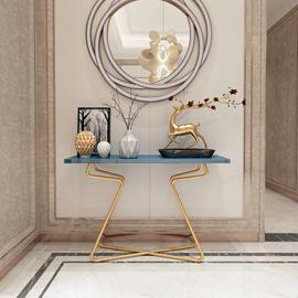 北欧大理石玄关桌靠墙现代简约玄关柜轻奢玄关台铁艺实木边桌案台