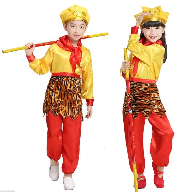 兒童聖誕節服裝西遊記孫悟空齊天大聖演出服美猴王套裝舞台表演服
