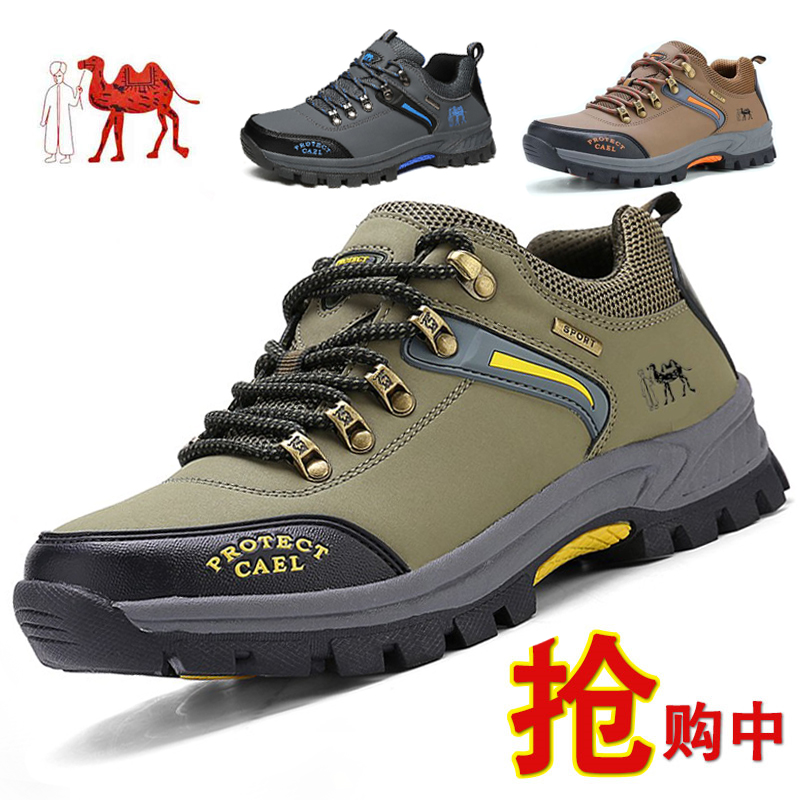 Autumn camel Island breathable leisure sports outdoor hiking thick bottom wear-resistant and antiskid tourist shoe man