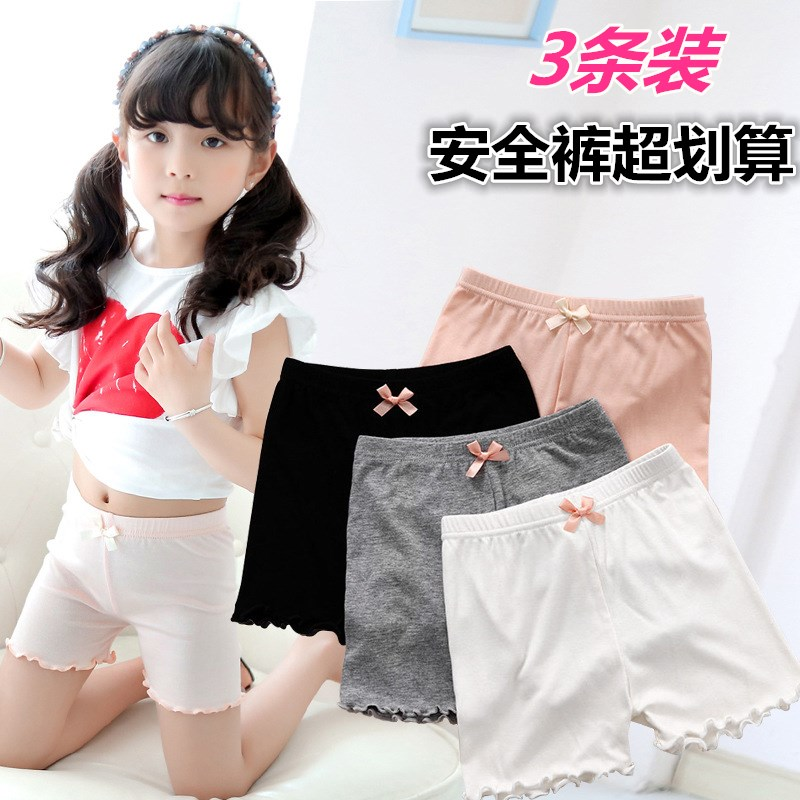 Girls safety pants, light proof safety pants, middle school childrens white leggings, summer clothes, pupils shorts