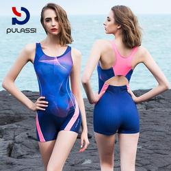 连体泳衣女遮肚显瘦保守韩国ins风学生速干运动训练专业游泳衣女