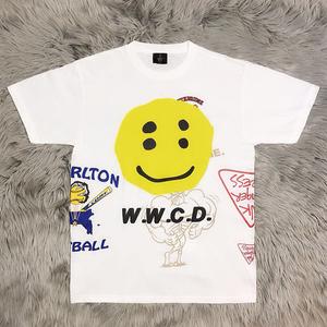 Kanye 菲董同款 CPFM.XYZ W.W.C.D.笑脸多元素 立体印花短袖T恤