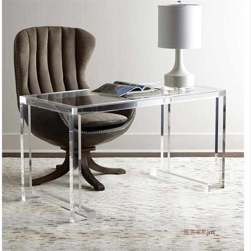 亚克力全透明卧室现代简约梳妆桌子