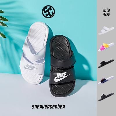 耐克Nike Benassi情侣款黑白忍者鸳鸯男女运动沙滩拖鞋819717-010