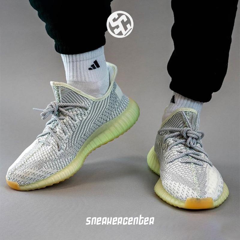 Adidas/阿迪達斯Yeezy Boost 350 V2 灰白椰子天使跑步鞋 FX4348