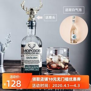 【东欧圣鹿 送气泡+鹿头】俄罗斯进口莫罗4号圣鹿先生力娇酒 35度