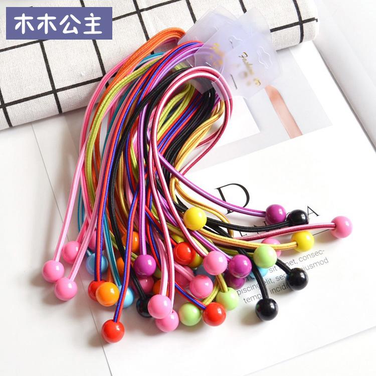 (用5.91元券)台湾进口女童头绳多彩高弹皮筋学生长头绳发绳马尾长橡皮筋头饰品