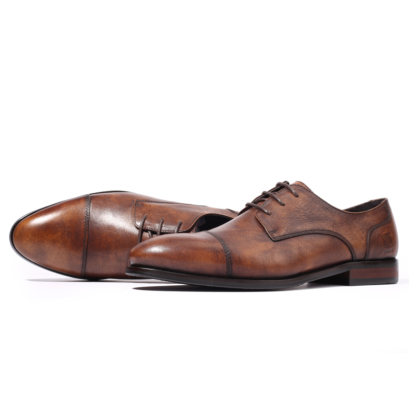 Mens business dress leather shoes Derby shoes mens youth Korean British business casual leather shoes are breathable