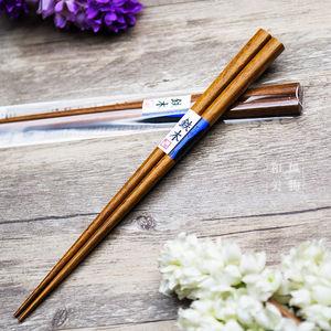 【天然原木】日本进口家用筷子铁木紫檀黑檀花梨无漆无蜡实木筷